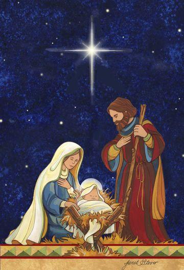 The Holy Family by Janet Stever ~ Christmas ~ Nativity ~ Star of Bethlehem