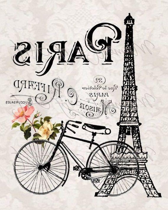 paris . bicicleta - torre eifel