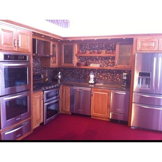 Dream kitchen with darker cabinets.