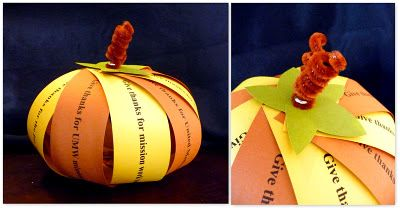 i am thankful pumpkin...Kids can contribute what they are thankful for on strips of paper....