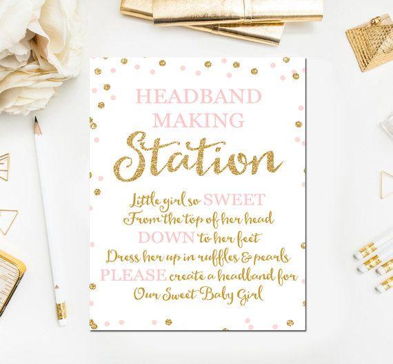 Headband Sign Headband Station Sign Headband Baby Shower