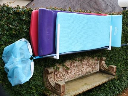 Outdoor Pool Storage Ideas Ca, Backyard Ideas Az, Pool Float Hanging Fence  Rack Fl