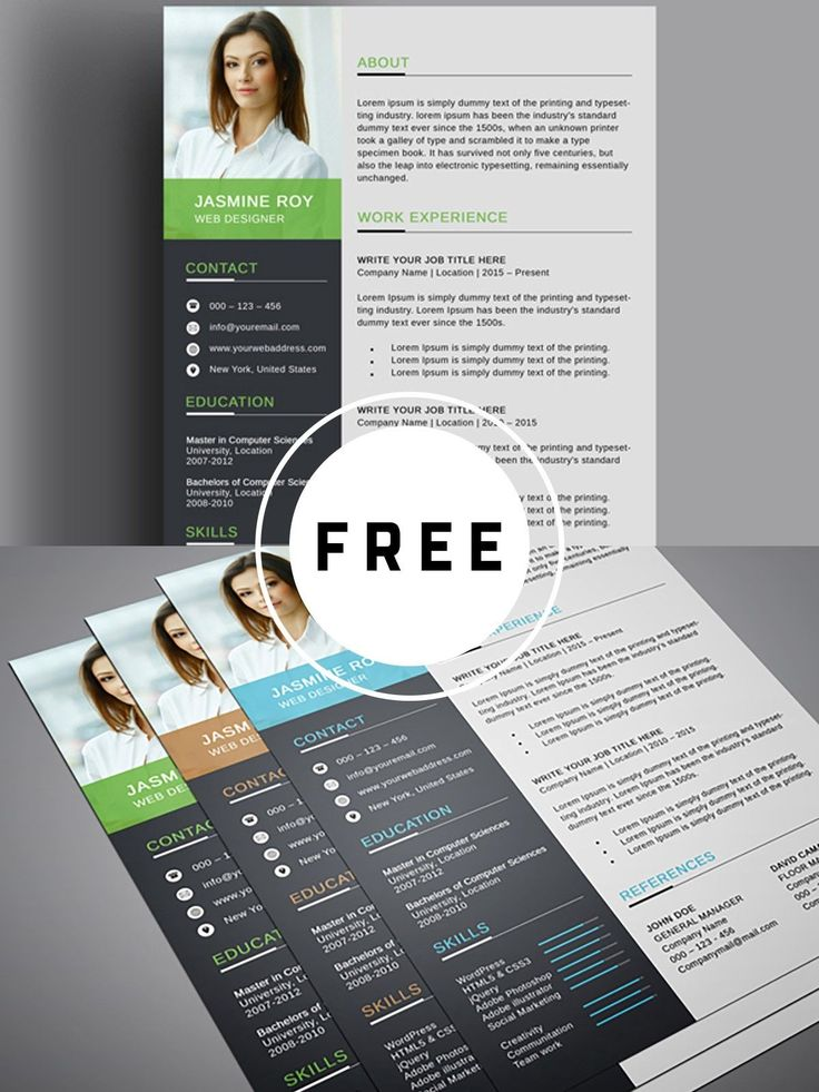 Resume template free Infographic resume template