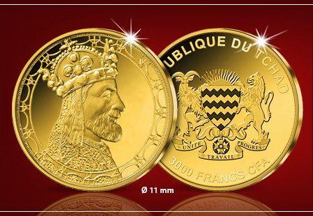 Zlatá mince Karel IV.