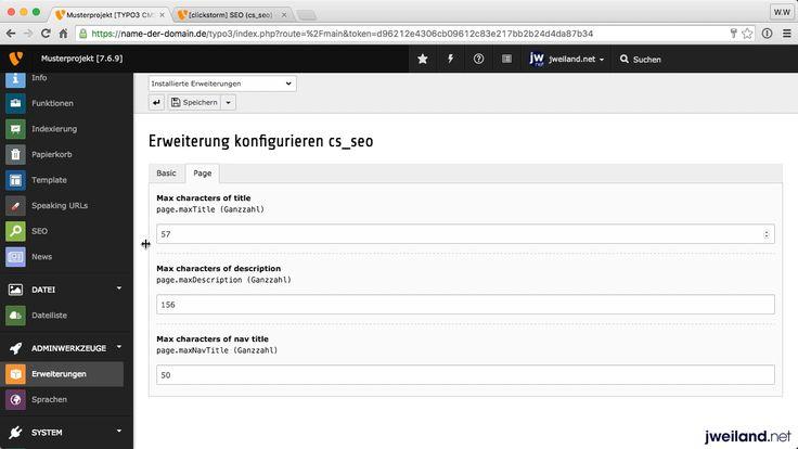 Videoanleitung in 4 Teilen: Die TYPO3 Extension cs_seo ist ein nützlicher Helfer bei der On Page Suchmaschinenoptimierung einer Website.