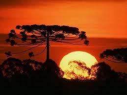 Por do sol em Campos do Jordão SP