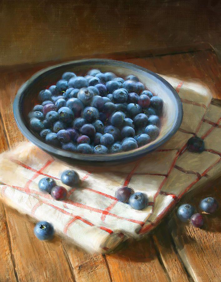 Blueberries Painting  - Blueberries Fine Art Print