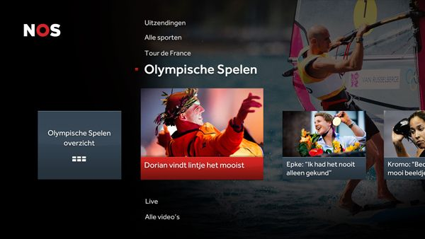 NOS Sport Smart TV app voor Samsung, LG, Philips, Sony en PlayStation 3