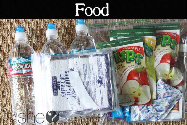 72 Hour Kits -- Food