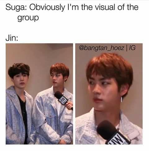 Jin about to slap that fool lol bts