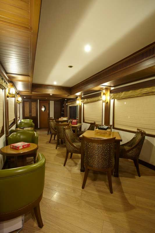 Maharajas' Express Safari Bar  ___________ #India #Travel #IncredibleIndia #Vacation #ThingsToDo #Tourist #TouristAttractions #Tourists #India #Tour #Traveling #Tours #Luxury #Hotel #Destination #Trip #PlacesToSee #Culture #Attractions #TheMaharajaExpress #MaharajasExpress LuxuryTrain #Palaceonwheels #MaharajaExpress