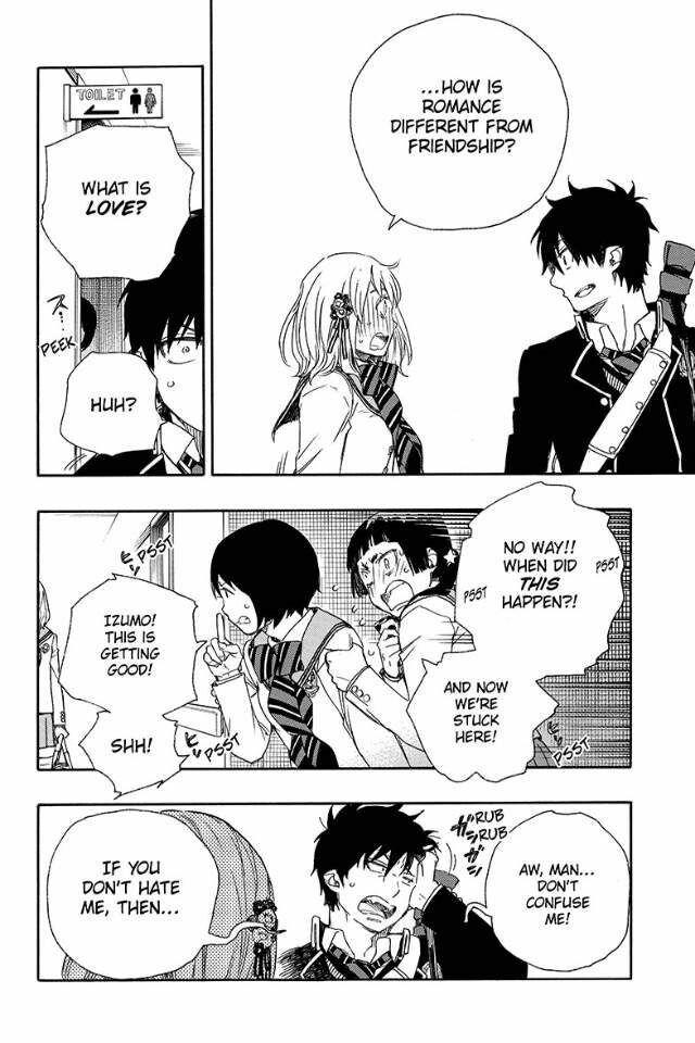 Rin x shiemi Manga moment ❤ #blueexorcist
