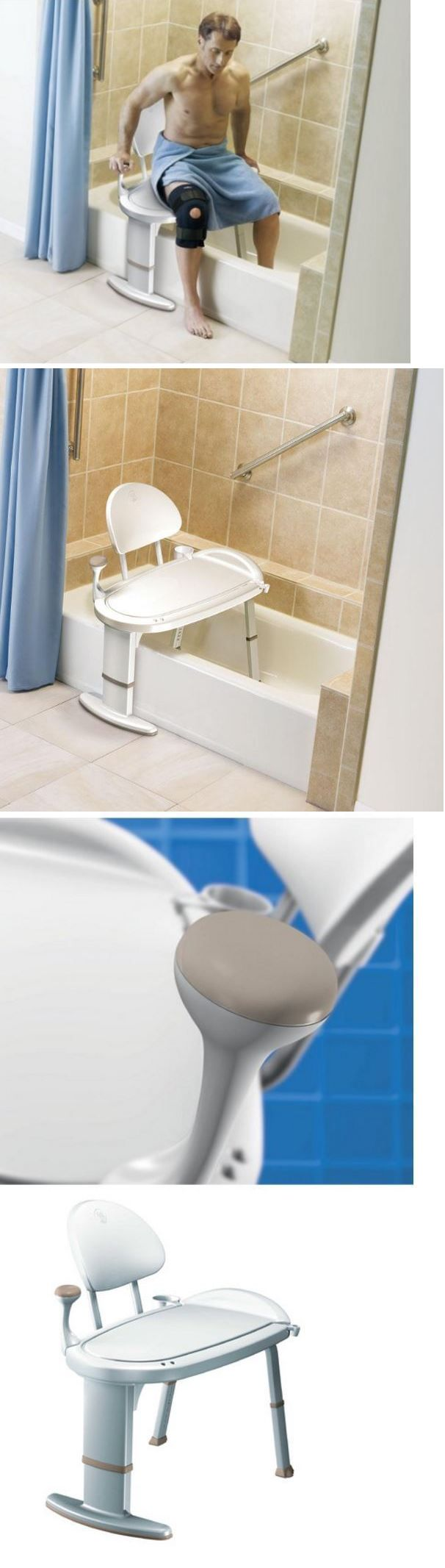 Shower and Bath Seats: Bath Bench Or Shower Chair Tub Transfer Bathroom Safety Equipment 400 Lb Support BUY IT NOW ONLY: $117.99