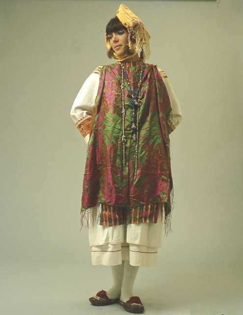 Female costume from Pyrgi ( Eastern Aegean, Chios), GREECE. Early 20th c.