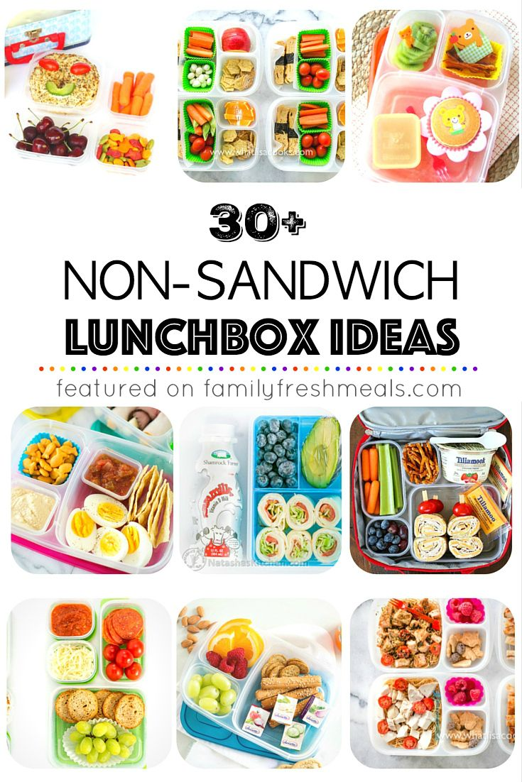 I've put together a list of more than 30 Non Sandwich Lunchbox ideas to get you started – enough to get you through a month of lunches and then some.