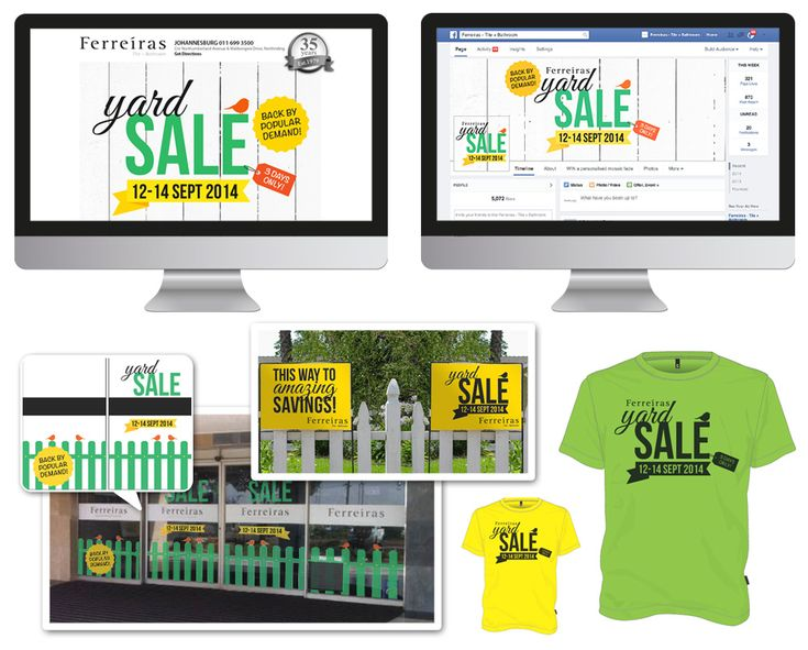 Ferreiras Yard Sale - campaign to advertise the Yard Sale to the public. STRATEGY, DESIGN, ROLLOUT