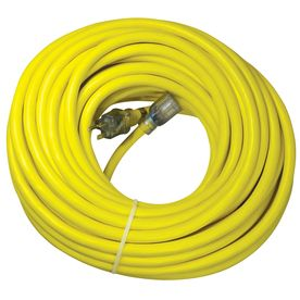 Utilitech�100-ft 20-Amp 110-Volt 10/3 Yellow Outdoor Extension Cord
