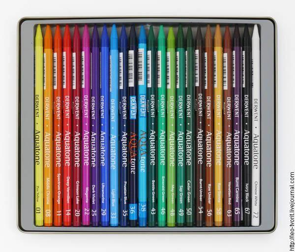 Лео творит! - Акварельные карандаши: описание, свойства и методы рисования