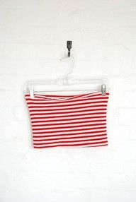 Vintage Candystripe Smocked Tube Top..I had this exact top and loved it! Wore it with white pants (yikes!)