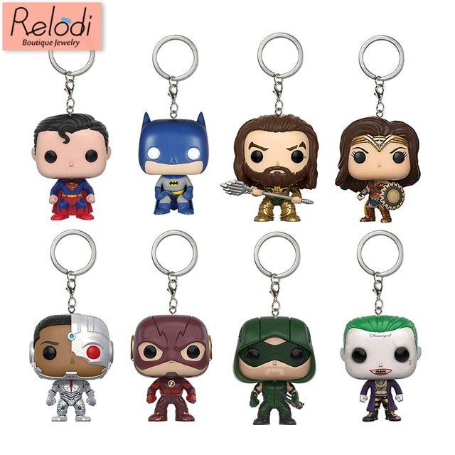Keychains--Justice League Movie Batman Pocket Pop Keychain