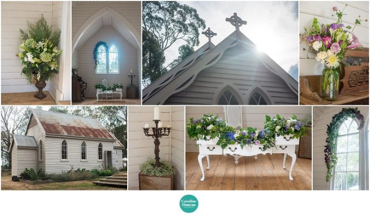 little church at spring hill wedding photography - Caroline Duncan Photography