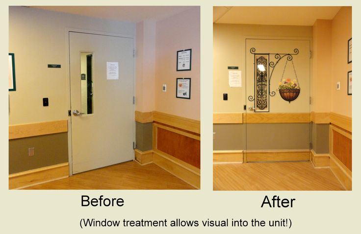 Door to staff utility hallway in Long Term Care dementia unit was a source of frustration for many residents – they saw activity on that side, but couldn't join in.  When the door disappears, so does the problem.Lana Parisek