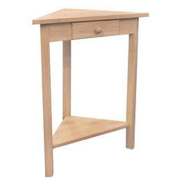 International Concepts OT-95 Corner Accent Table, Unfinished - Cool Kitchen Gifts