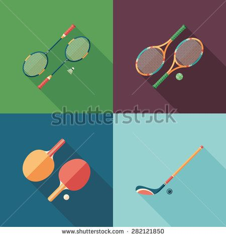 Team sports flat square icons with long shadows. #sport #sporticons #flaticons #vectoricons #flatdesign