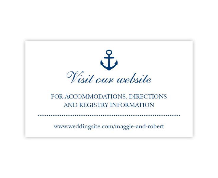 Wedding Website Cards, Simple Wedding Enclosure Cards or Gift ...