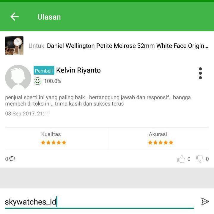 Terima Kasih.Telah memberikan kepercayaan kepada toko kami @skywatches_id ditunggu orderan selanjutnya  @kelvinriyanto94