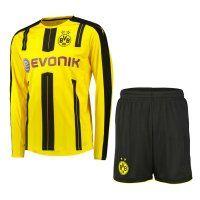 Dortmund Home 16-17 Season LS Soccer Kit (Shirt+Shorts)