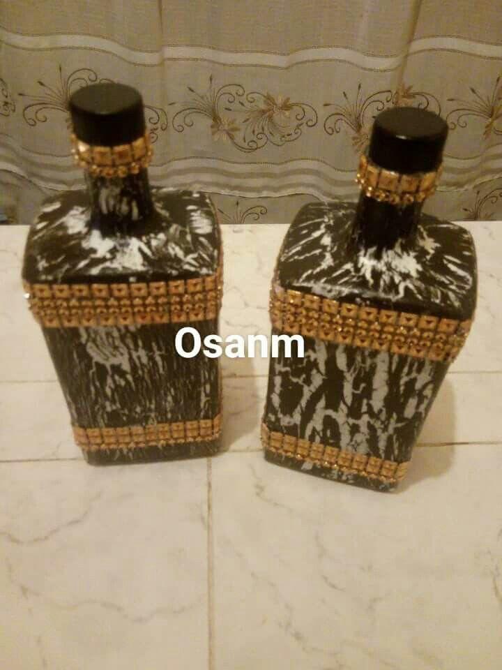 Botellas craquelada con apli cación
