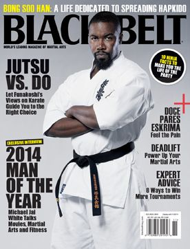 October-November 2014 issue of Black Belt magazine featuring kyokushin karate black belt and martial arts movie actor MIchael Jai White.