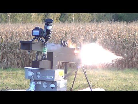 Watch This Homemade Electromagnetic Gun Vaporize A Piggybank