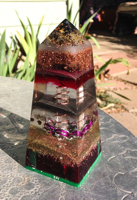 Orgone Generator Obelisk ~ Flower of Life Sacred Geometry Activation