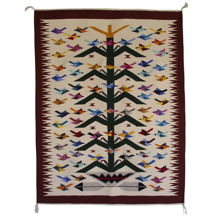 Tree Of Life Navajo Weaving : Wenora Joe : 3024 - Getzwiller's Nizhoni Ranch Gallery