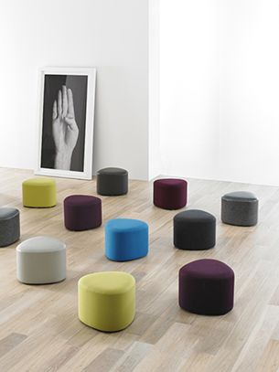 Hbf Triscape Pouf Seating Stool Ottoman Pouf In 2019