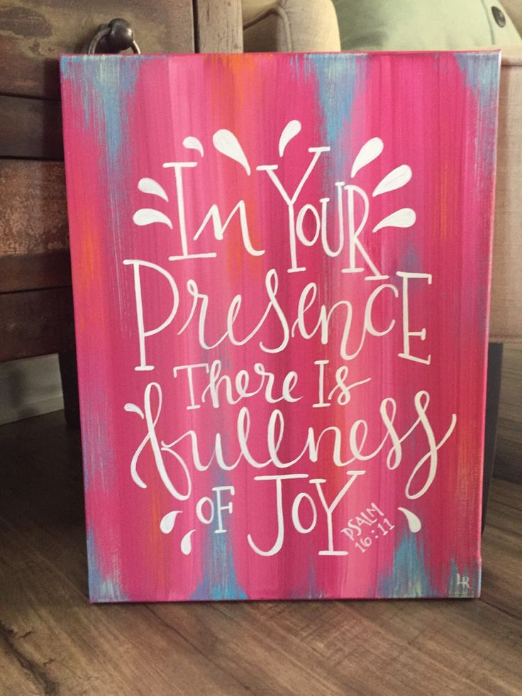 "Hand painted original wall decor, inspirational psalms, acrylic on 12x16"" canvas, scripture painting, rustic style abstract background with floral tones with pops of vivid blues & corals with warm white brush lettering,"