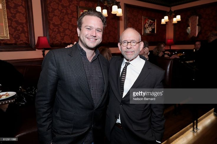 Zachary Pym Williams and Bob Balaban attend the after party for the Grand Opening of The SAG-AFTRA Foundation Robin Williams Center at 54 Below on October 5, 2016 in New York City.