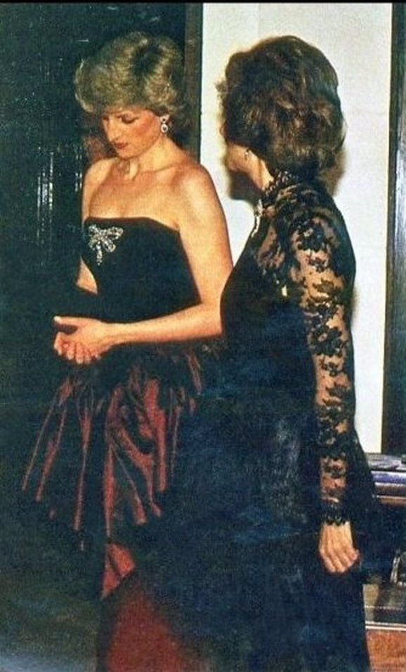 Princess Diana attending a reception Held by  Spanish Ambassdor Jois Puig de Bellacasa at the Spanish Embassy in London 21st March 1987.