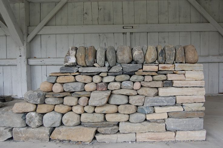 Syenite Building Stones : Rock wall stone building workshop at shelburne