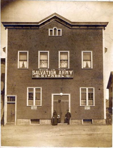 SALVATION ARMY CITADEL IN SYDNEY MINES SOMETIME DURING THE EARLY 1900S-SYDNEY MINES-CAPEBRETON Nova Scotia, Canada - My Grandfather had a strong Sally Ann background