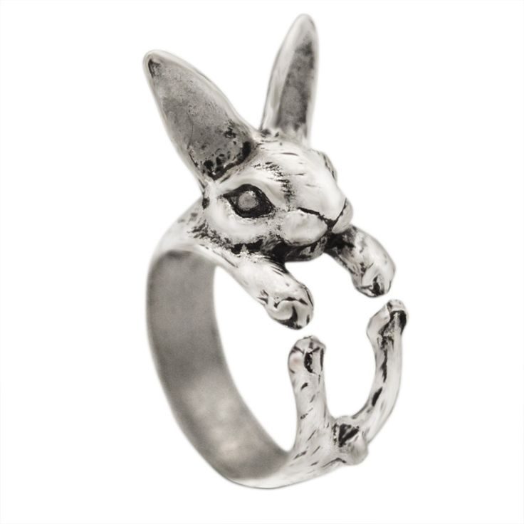 Mix Color Adjustable Vintage Hippie Chic Handmade Rabbit Bunny Animal Knuckles Rings for Women Girls Charm Gift Fashion Jewelry
