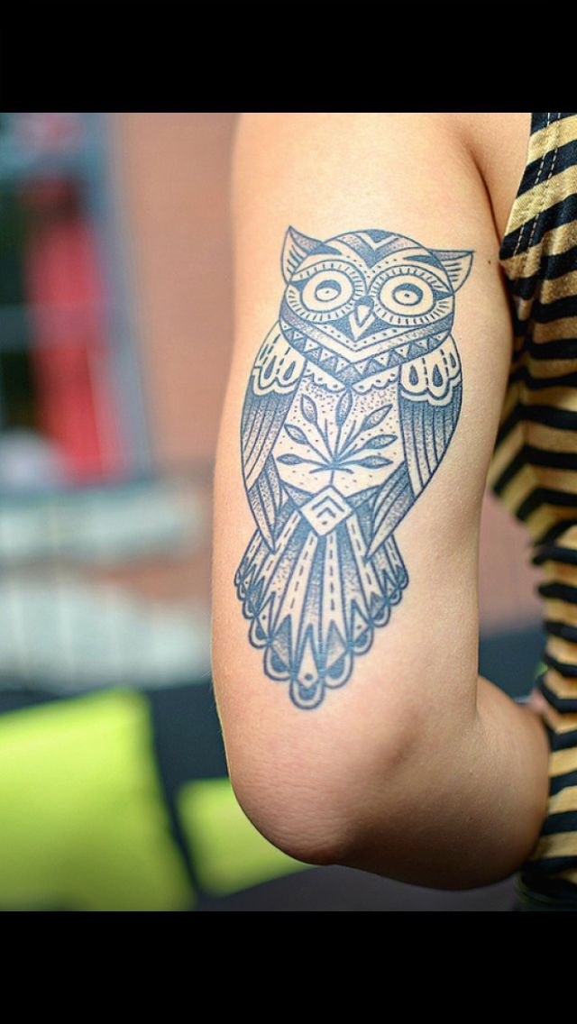 owl tattoo on tricep tattoos pinterest style design and love the. Black Bedroom Furniture Sets. Home Design Ideas