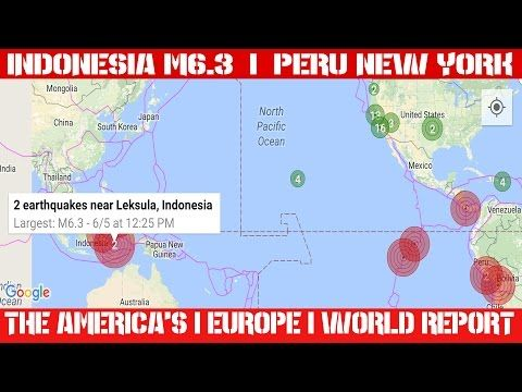 Earthquake Report | June 05, 2016 | Indonesia M6.3 | EQ Lull Continues |...