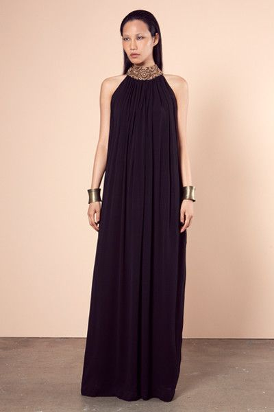 Gold Halter Neck Maxi A/W 2014, Roopa Pemmaraju Autumn/ Winter 2014, Bamal Collection. Limited Edition  http://roopapemmaraju.com/collections/long-dresses/products/gold-halter-neck-maxi