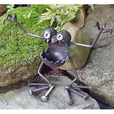 Garden monster! Perhaps this will scare off unwelcome intruders?
