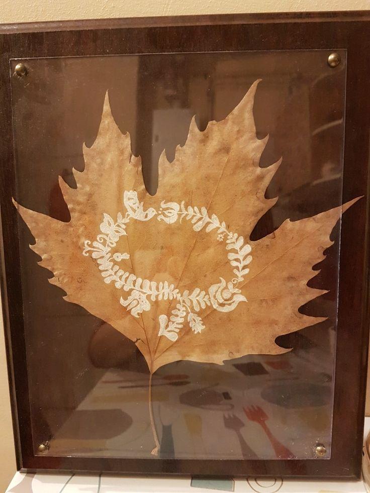 Magyar népmesék levélrajz, őszi dekor egyszerűen