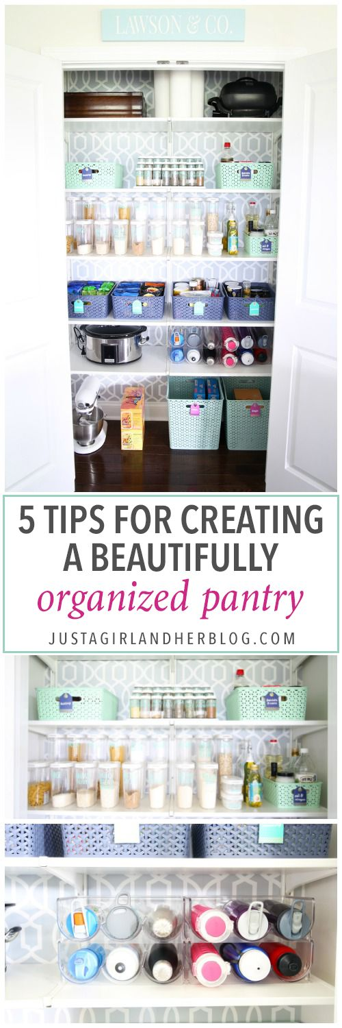 5 Tips for Creating a Beautifully Organized Pantry