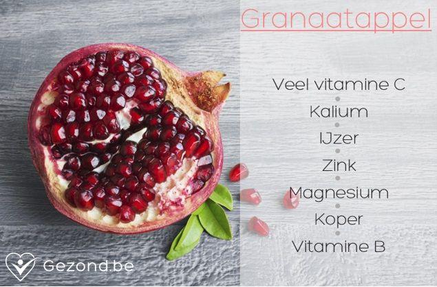 #fact #granaatappel #vitamines #gezond #mineralen